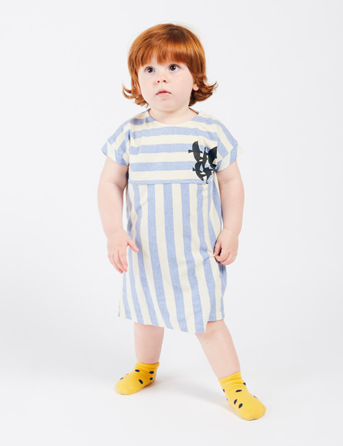 [BOBO CHOSES] Flying Birds TShirt Dress [12-18m, 18-24m, 24-36m]