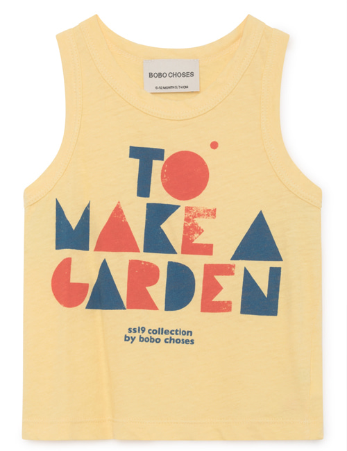 [BOBO CHOSES] Geometric  Linen Tank Top [6-12M, 12-18M]