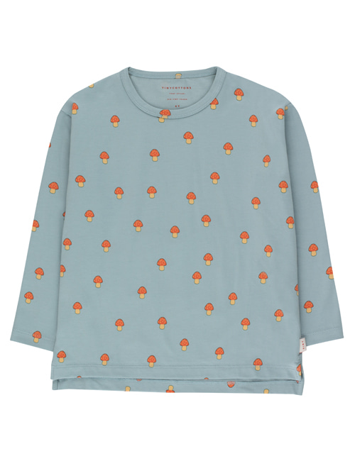 "[TINY COTTONS]  ""MUSHROOMS"" TEE _ warm grey/red"
