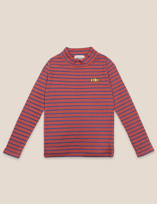 [BOBO CHOSES] Striped Turtle Neck T-shirt [4-5y, 8-9y, 10-11y]