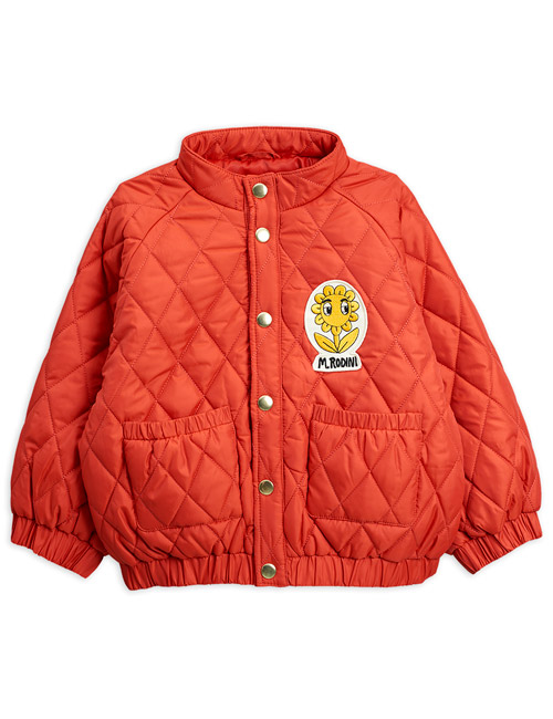 [MINI RODINI]Diamond quilted jacket_Red[80/86, 140/146]