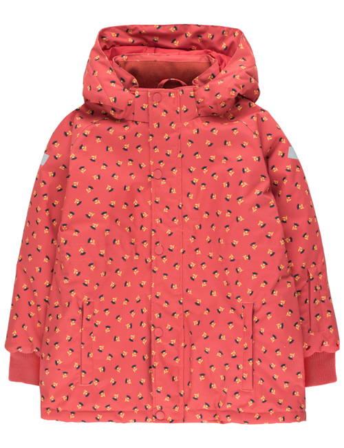 "[TINY COTTONS] ""TINY FLOWERS"" SNOW JACKET _ burgundy/navy [4Y, 6Y]"