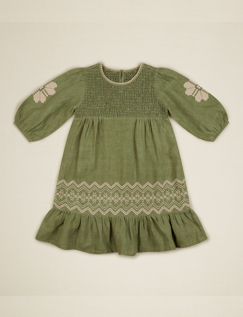 [APOLINA KIDS] 'NOELLE' DRESS – PISTACHIO