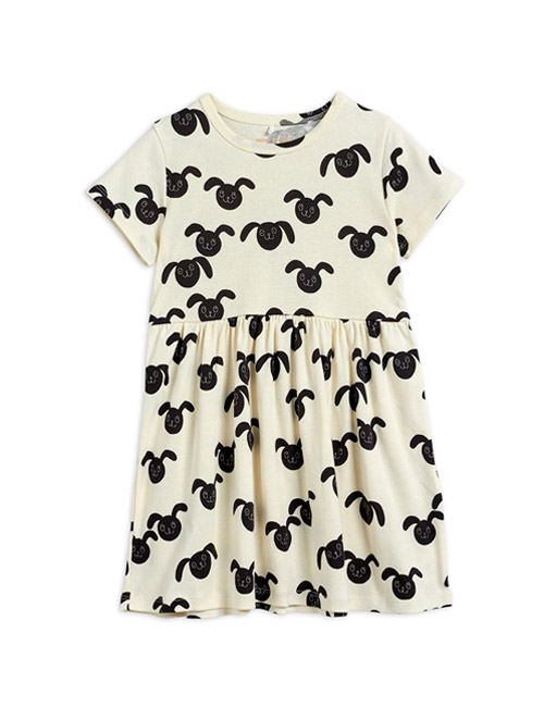 [MINI RODINI] Rabbits aop ss dress _ Black[80/86, 104/110, 116/122]