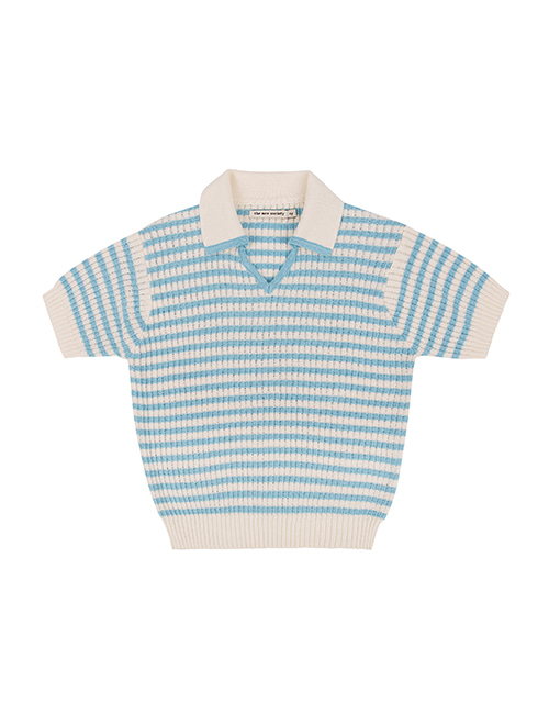 [THE NEW SOCIETY]LUPITA KNIT POLO _ OFF WHITE