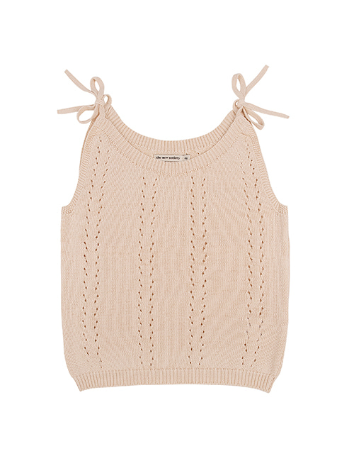 [THE NEW SOCIETY]ALICE KNIT TOP _ NATURAL