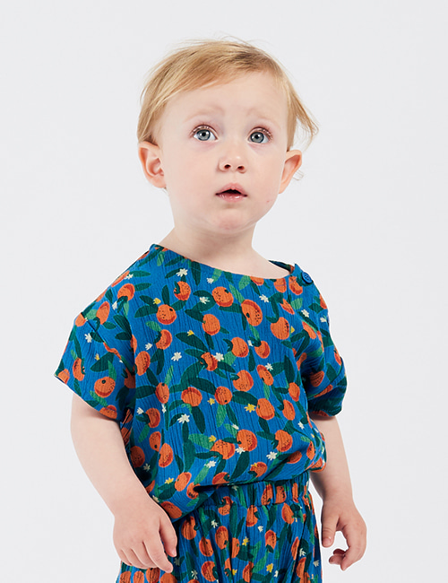 [BOBO CHOSES] All Over Oranges Blouse [12-18m]