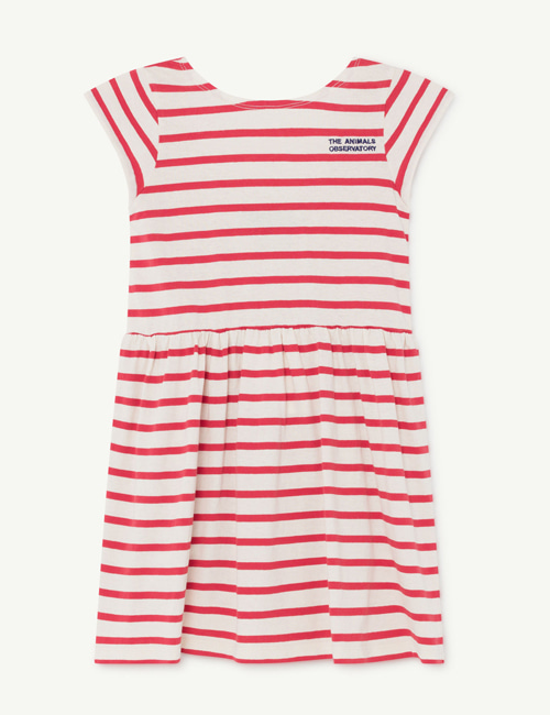 [T.A.O]BUTTERFLY KIDS DRESS _ RED STRIPE