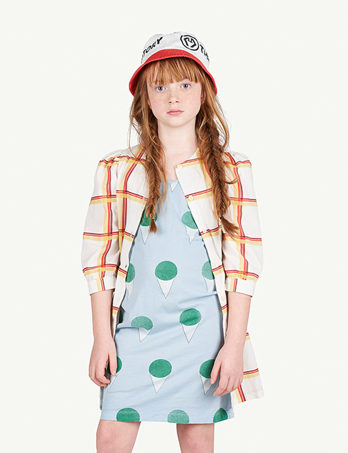 [T.A.O]SQUARES TORTOISE KIDS DRESS