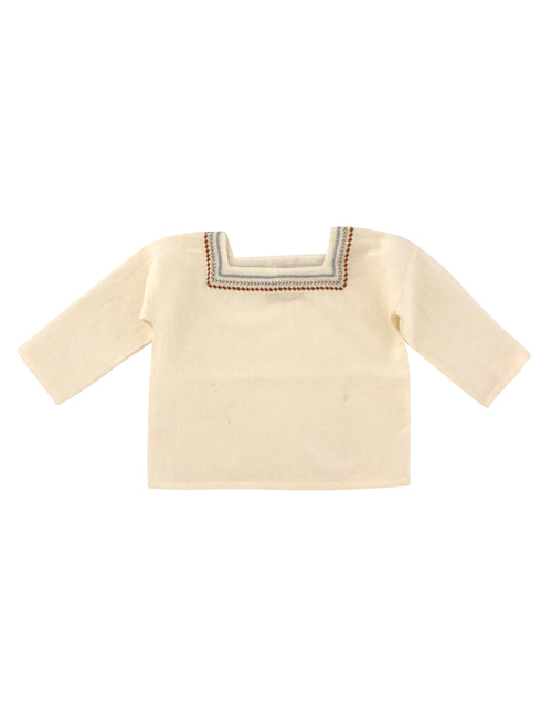 [LIILU KIDS] Folk oversize shirt_ Milk