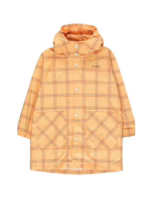 "[Tiny Cottons] ""CHECK"" RAINCOAT _ yellow/red[10Y]"