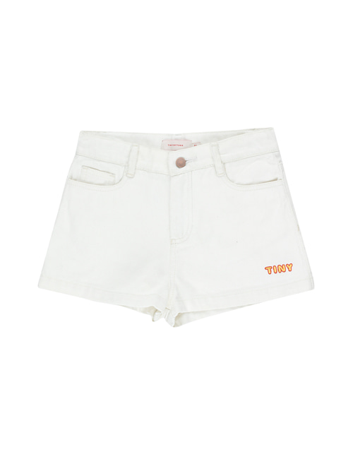 "[Tiny Cottons] ""TINY"" SHORT _ off-white [10Y]"