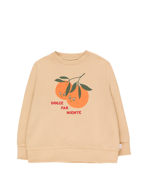 "[Tiny Cottons] ""ORANGES"" SWEATSHIRT _ cappuccino/brick [12Y]"
