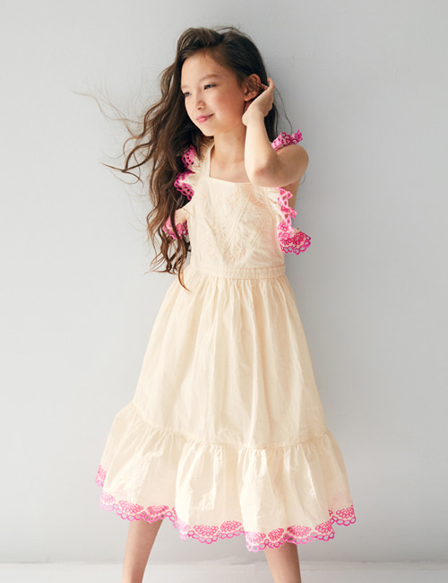 [NELLY STELLA]  Elina Dress _ Linen [3Y, 4Y]