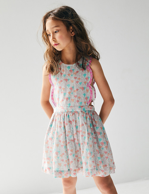 [NELLY STELLA]  Emma Dress _ Blooming Hearts Mint