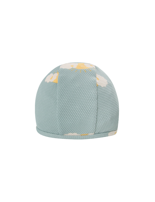 "[Tiny Cottons] ""SLEEPY SUN"" SWIM HAT _ sea green/yellow[L (56/58)]"