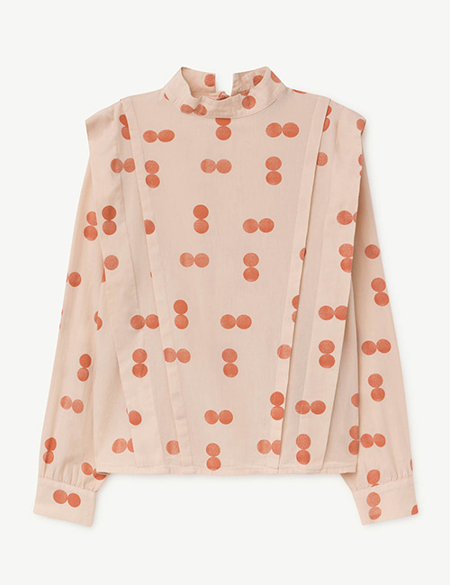 [T.A.O]CUCKOO KIDS SHIRT ORANGE CIRCLES [6Y]