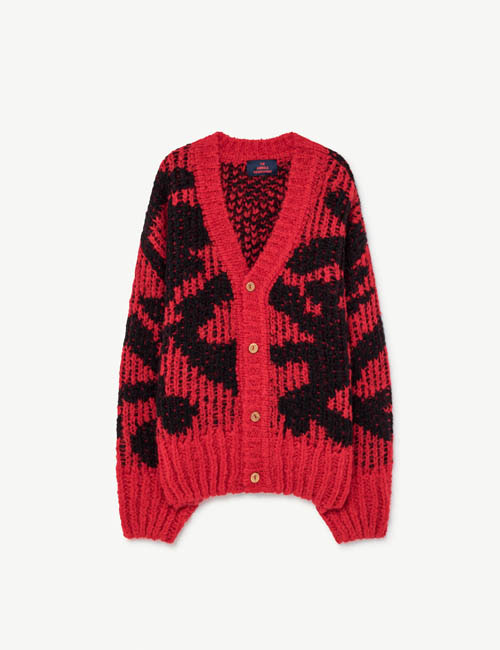 [T.A.O] ARTY RACOON KIDS CARDIGAN  _ RED [4Y]
