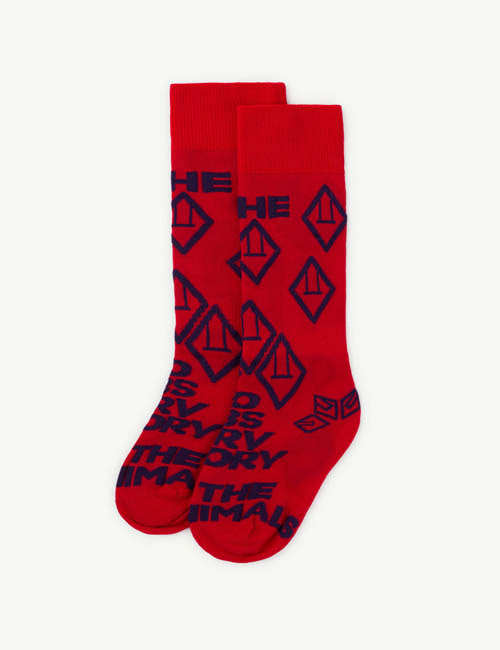 [T.A.O] HEN KIDS SOCKS _ RED[27/30, 31/34, 35/38]