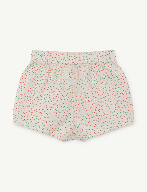 [T.A.O]CLAM KIDS SHORTS_WHITE DOTS [8y]