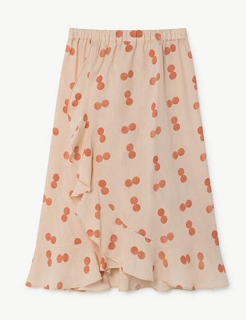 [T.A.O]MANATEE KIDS SKIRT ORANGE CIRCLES [4Y]
