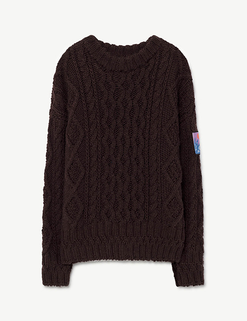 [T.A.O]BRAID BLOWFISH KIDS SWEATER DEEP BROWN [4Y]