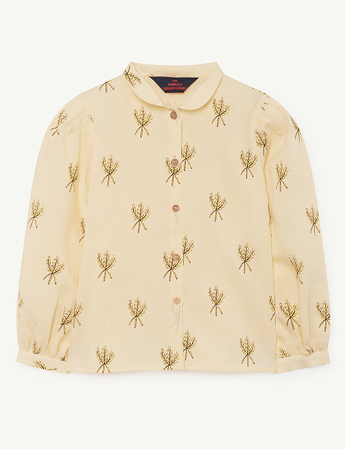 [T.A.O]GADFLY KIDS SHIRT_YELLOW WHEAT SPIKES [3y,4y]