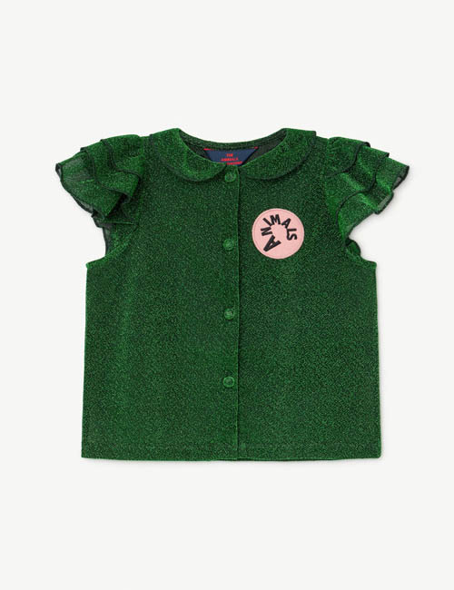 [T.A.O] PARAKEET KIDS SHIRT _ GREEN [10Y]