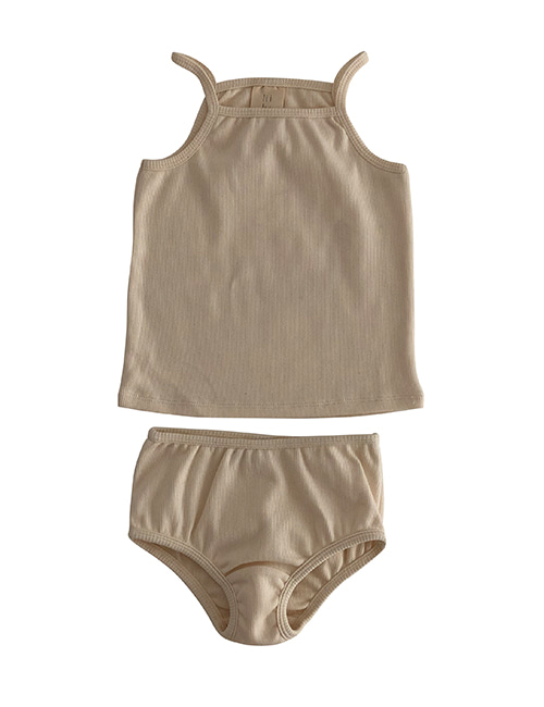 [LIILU] Rib underwear set - Milk