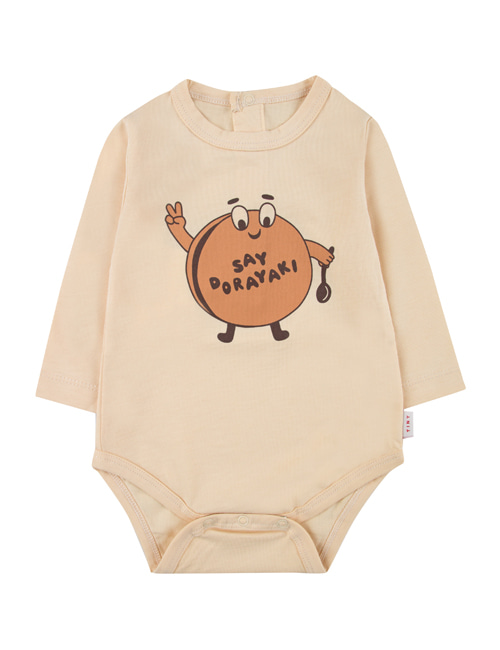 "[TINY COTTONS]  ""DORAYAKI"" BODY _ cream/camel [12M]"