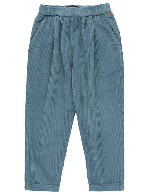 [TINY COTTONS]  SOLID PLEATED PANT _ sea blue [8Y, 12Y]