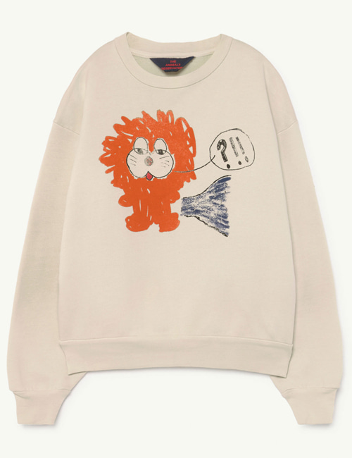 [T.A.O] BEAR KIDS+ SWEATSHIRT  White Lion [3Y]