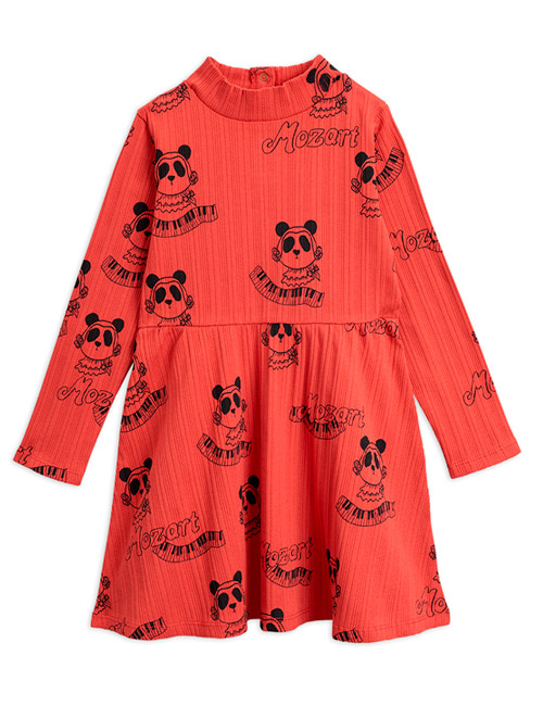 [MINIRODINI]Mozart aop ls dress_Red[80/86, 92/98]
