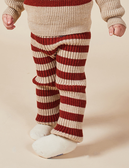 [BOBO CHOSES] Striped Knitted Leggings[24-36m]