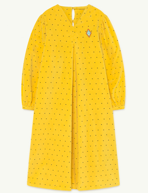 [T.A.O] GIRAFFE KIDS DRESS  YELLOW DOTS [4Y]