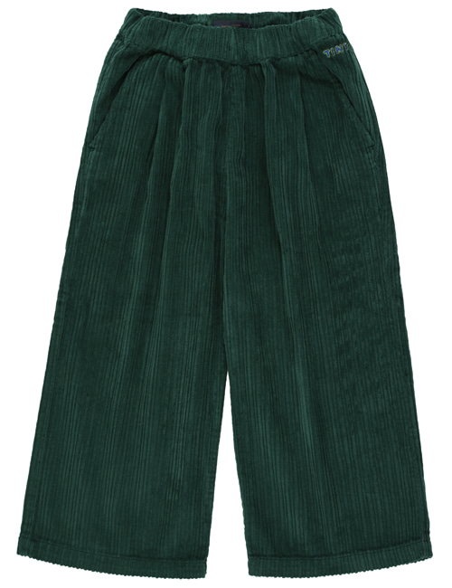 [TINY COTTONS]  SOLID WIDE PANT _ dark green [6Y, 8Y, 12Y]