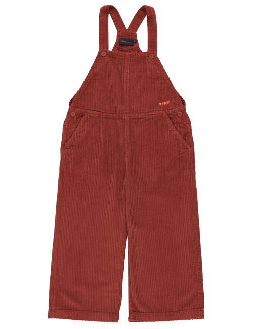 [TINY COTTONS]  SOLID OVERALL _ dark brown [4Y]