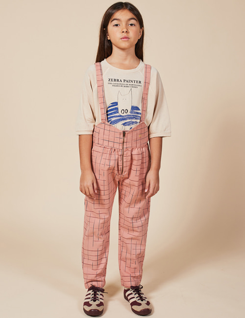 [BOBO CHOSES] Grid Braces Pants[2-3y, 4-5y, 6-7y ,10-11y]