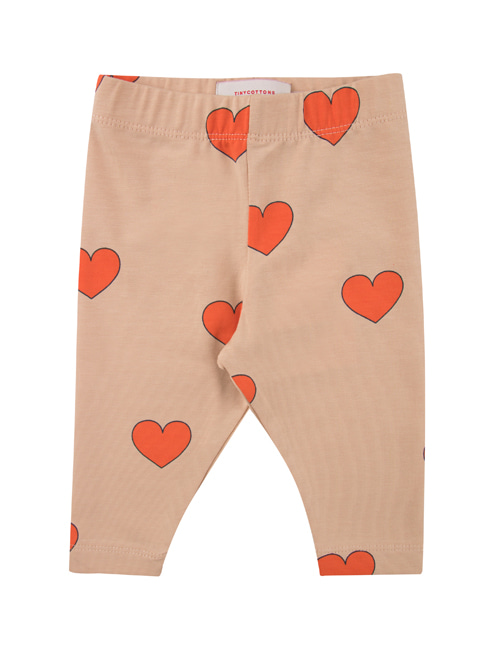 "[TINY COTTONS]  ""HEARTS"" PANT _ light nude/red [12M, 18M]"