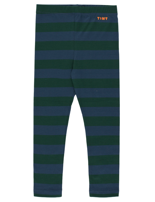 "[TINY COTTONS]  ""TINY "" STRIPES PANT _ dark green/light navy [4Y]"