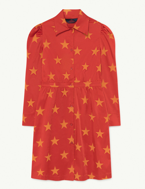 [T.A.O] DOLPHIN KIDS DRESS RED STARS [ 6Y, 8Y]