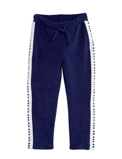 [MINI RODINI]Piano terry trousers_Navy [104/110, 140/146]