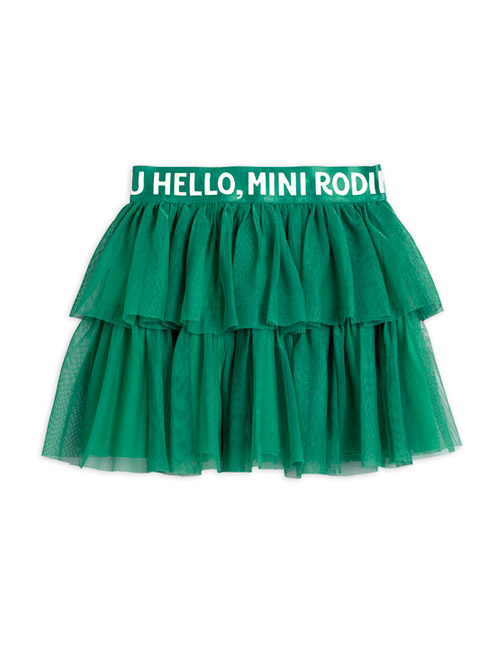 [MINI RODINI]Tulle skirt_Green [128/134, 140/146]