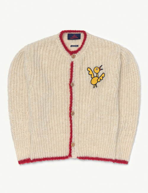 [T.A.O] PARROT KIDS CARDIGAN White Bird [4Y, 8Y]