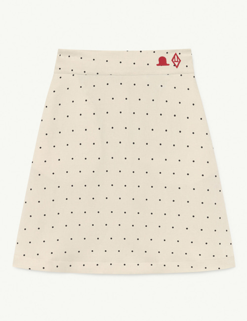 [T.A.O] SWAN TWILL KIDS SKIRT WHITE DOTS  [4Y]