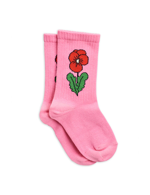 [MINI RODINI]Viola socks _ Pink [24/27]