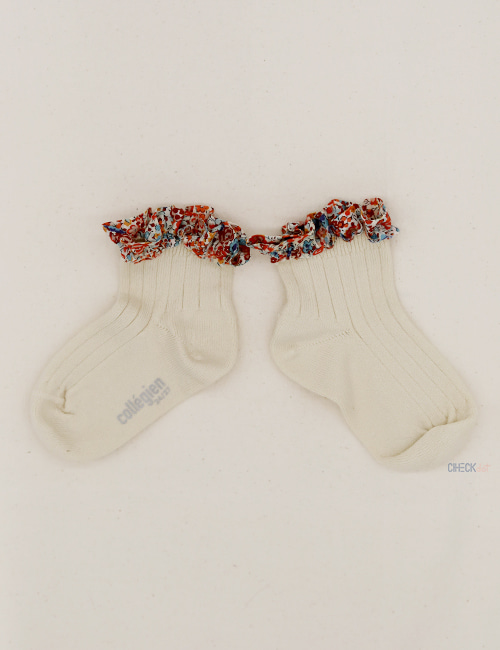 [COLLEGIEN]Liberty Frii trim ankle socks _ Doux agneaux(no.037) [28/31, 32/35]