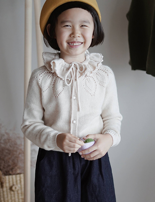 [MES KIDS DES FLEURS] Patterned sweater _ Beige [M]