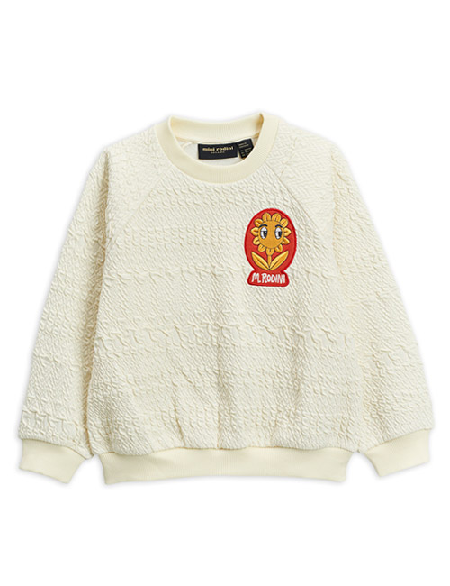 [MINI RODINI]Flower patch sweatshirt _ Offwhite[92/98, 116/122, 128/134]