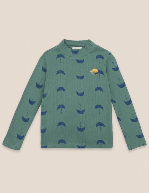 [BOBO CHOSES] Umbrella All Over Turtle Neck T-shirt [2-3y]